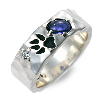WOLFMAN B.R.S ウルフマン シルバー リング 指輪 アイオライト ホワイト 20代 30代 彼氏 メンズ