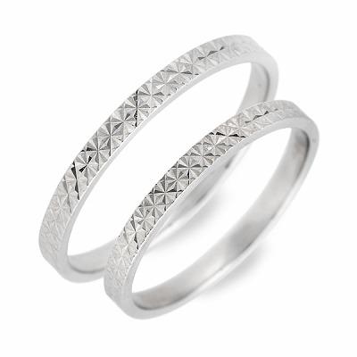 WISP ホワイトゴールド ペアリング 婚約指輪 結婚指輪 エンゲージリング 彼女 彼氏 レディース メンズ カップル ペア 誕生日プレゼント 記念日 ギフトラッピング ウィスプ 送料無料