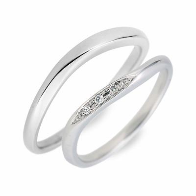 WISP ホワイトゴールド ペアリング 婚約指輪 結婚指輪 エンゲージリング ダイヤモンド 彼女 彼氏 レディース メンズ カップル ペア 誕生日プレゼント 記念日 ギフトラッピング ウィスプ 送料無料 母の日 2020