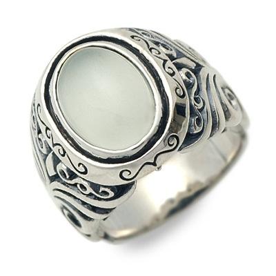 Magische Vissen マジェスフィッセン シルバー リング 指輪 ムーンストーン ホワイト 20代 30代 彼氏 メンズ
