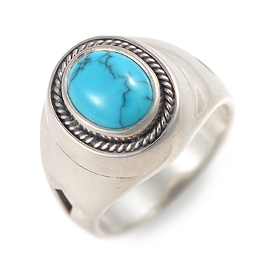 Magische Vissen マジェスフィッセン シルバー リング 指輪 ターコイズ ブルー 20代 30代 彼氏 メンズ