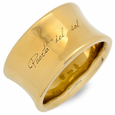 PUERTA DEL SOL プエルタデルソル リング 指輪 イエロー 20代 30代 彼氏 メンズ 人気 ブランド