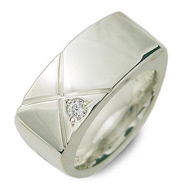 SPACE LAB スペースラボ シルバー リング 指輪 キュービック ホワイト 20代 30代 楽ギフ_包装 smtb-m