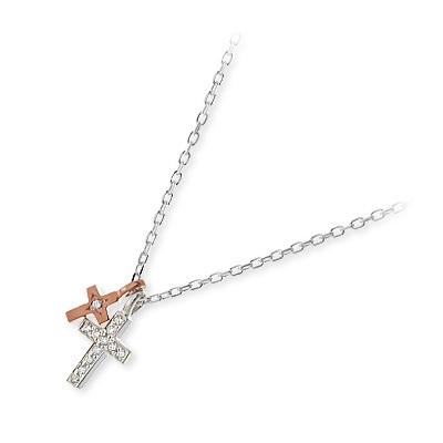 THE KISS ザ・キッス シルバー ネックレス シンプル ダイヤモンド ホワイト 彼女 レディース クロス 母の日 2020