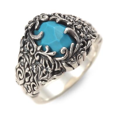SAINTS Design セインツ リング 指輪 ターコイズ ブルー 彼氏 メンズ