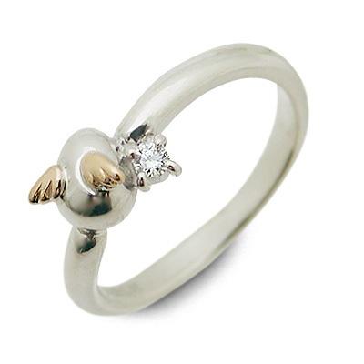 天使の卵 シルバー リング 指輪 ダイヤモンド ホワイト 彼女 レディース