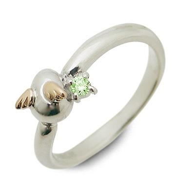 天使の卵 シルバー リング 指輪 ペリドット ホワイト 20代 30代 彼女 レディース 母の日 花以外