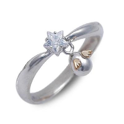 天使の卵 シルバー リング 指輪 キュービック ホワイト 20代 30代 彼女 レディース 母の日