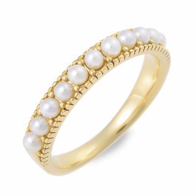 J luxe ジェイリュクス リング 指輪 6月誕生石 パール・真珠 イエロー 20代 30代 彼女 レディース 母の日