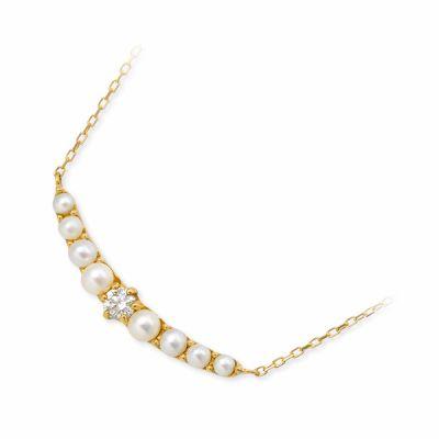 ダイヤモンド ネックレス シンプル J luxe ジェイリュクス 一粒 イエロー 彼女 レディース