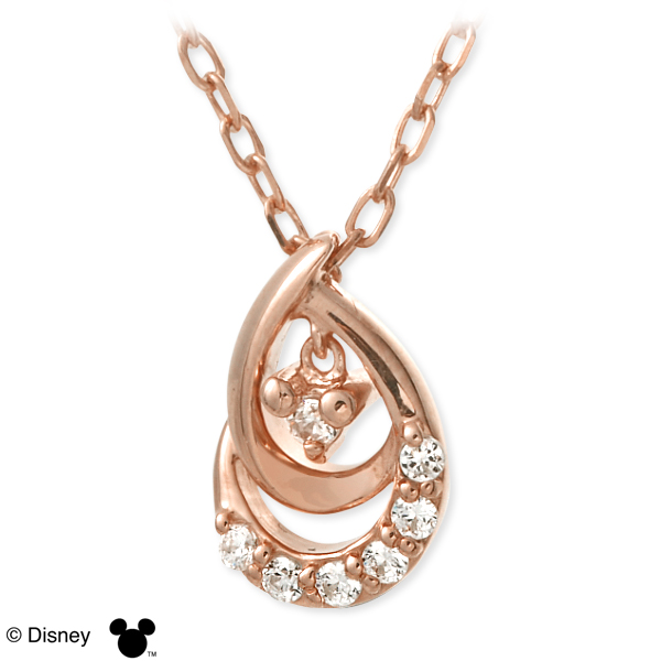 Disney ディズニー シルバー ネックレス キュービック ピンク 彼女 レディース 母の日 2020