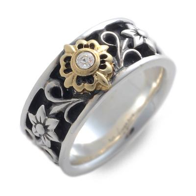 WOLFMAN B.R.S ウルフマン シルバー リング 指輪 ブラック 20代 30代 人気 ブランド 楽ギフ_包装 smtb-m
