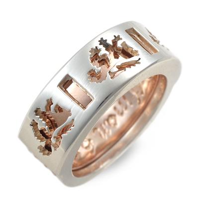 WOLFMAN B.R.S ウルフマン シルバー リング 指輪 ピンク 20代 30代 人気 ブランド 楽ギフ_包装 smtb-m