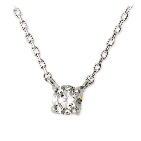 WISP ウィスプ ホワイトゴールド ネックレス 一粒 ダイヤモンド ホワイト 20代 30代 彼女 レディース