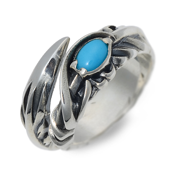 M's collection エムズコレクション シルバー リング 指輪 ターコイズ グレー 20代 30代 彼氏 メンズ
