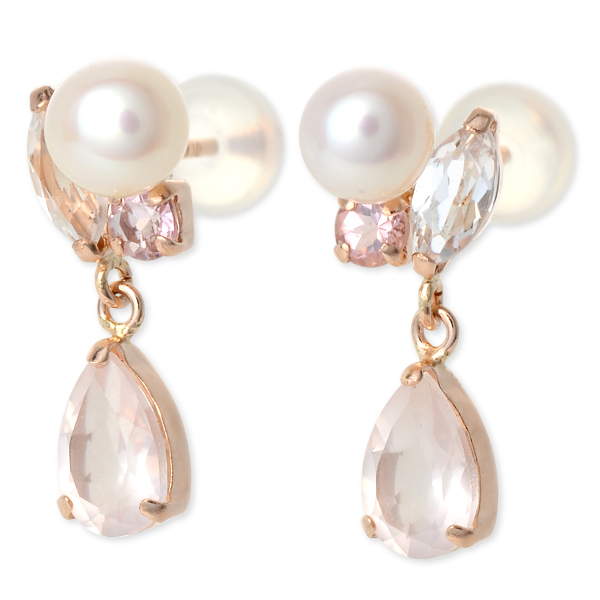 ピアス パール WISP ウィスプ パーティ 結婚式 6月誕生石 選べる ・真珠 ピンク 彼女 レディース