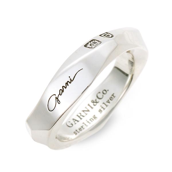 GARNI シルバー リング 指輪 婚約指輪 結婚指輪 エンゲージリング 名入れ 刻印 20代 30代 彼女 レディース 女性 誕生日プレゼント 記念日 ギフトラッピング あす楽 ガルニ 送料無料