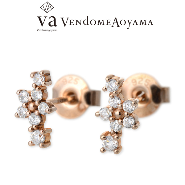VA Vendome Aoyama ヴイエーヴァンドームアオヤマ シルバー ピアス キュービック ピンク 彼女 レディースクリスマス 12月