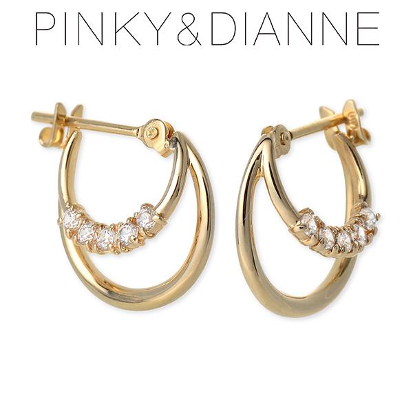 Pinky&Dianne ピンキーアンドダイアン ピアス キュービック イエロー 彼女 レディース