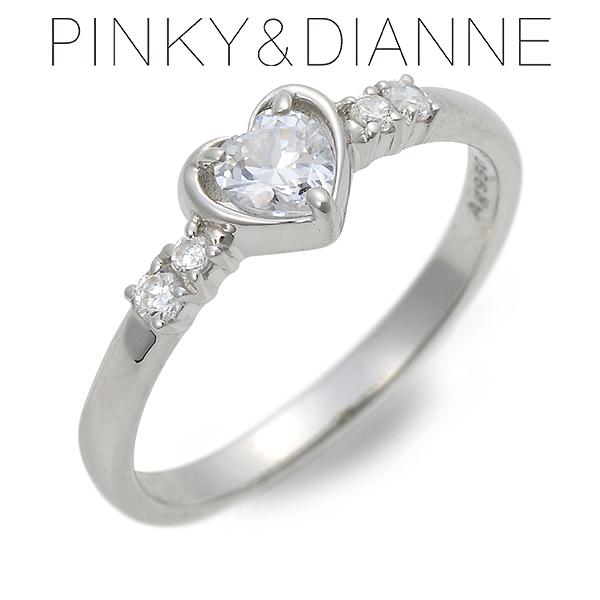 Pinky&Dianne ピンキーアンドダイアン シルバー リング 指輪 キュービック ホワイト 彼女 レディース ハート 母の日 2020