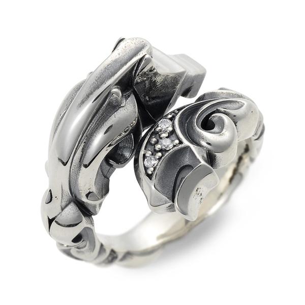 ディールデザイン DEAL DESIGN シルバー リング 指輪 キュービック グレー 20代 30代 彼氏 メンズ