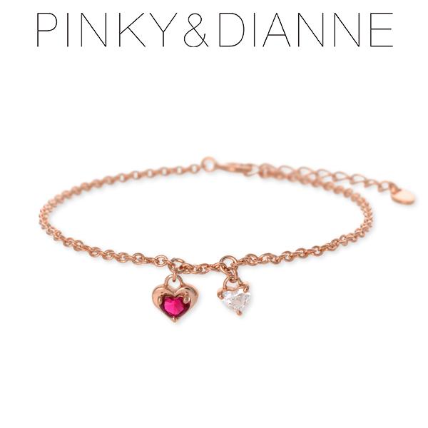 Pinky&Dianne ピンキーアンドダイアン シルバー ブレスレット キュービック ピンク 彼女 レディース 母の日 2020