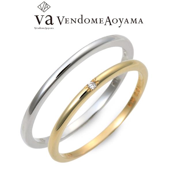 送料無料 VA Vendome Aoyama ゴールド ペアリング 婚約指輪 結婚指輪 エンゲージリング ダイヤモンド 20代 30代 彼女 彼氏 レディース メンズ カップル ペア 誕生日プレゼント 記念日 ギフト ラッピング ヴイエーヴァンドームアオヤマ ブランド 母の日 花以外