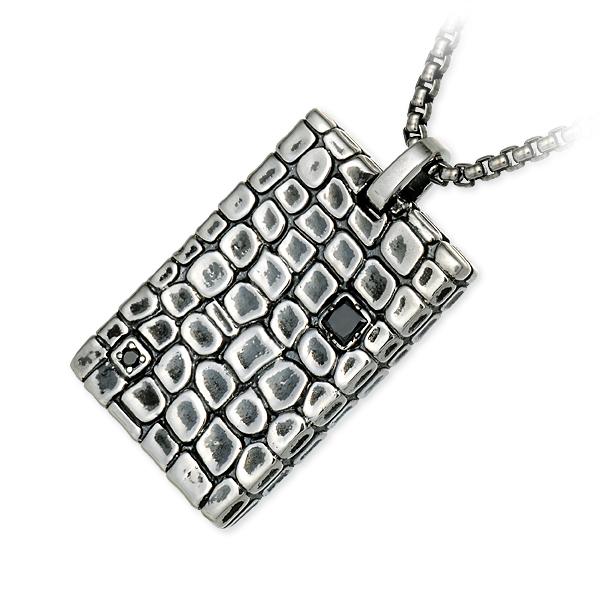 M's collection エムズコレクション シルバー ネックレス ダイヤモンド グレー 20代 30代 彼氏 メンズ