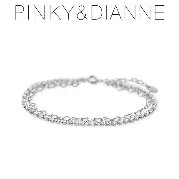 送料無料 Pinky&Dianne シルバー ブレスレット ハート 彼女 レディース 女性 誕生日プレゼント 記念日 ギフトラッピング ピンキーアンドダイアン 母の日 2020