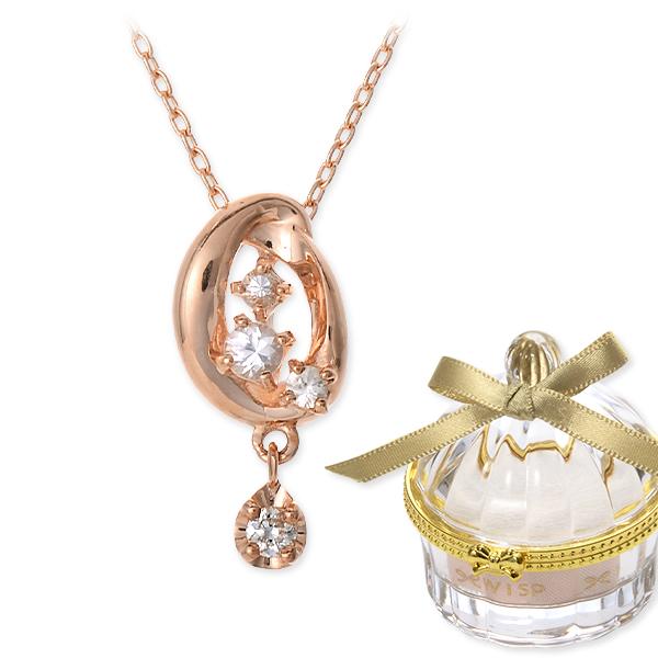 高品質 送料無料 WISP ピンクゴールド ネックレス シンプル ダイヤモンド 彼女 レディース 女性 誕生日プレゼント 記念日 ギフトラッピング ウィスプ, イベント子供服 ポップ&コーン 65e8bdbf