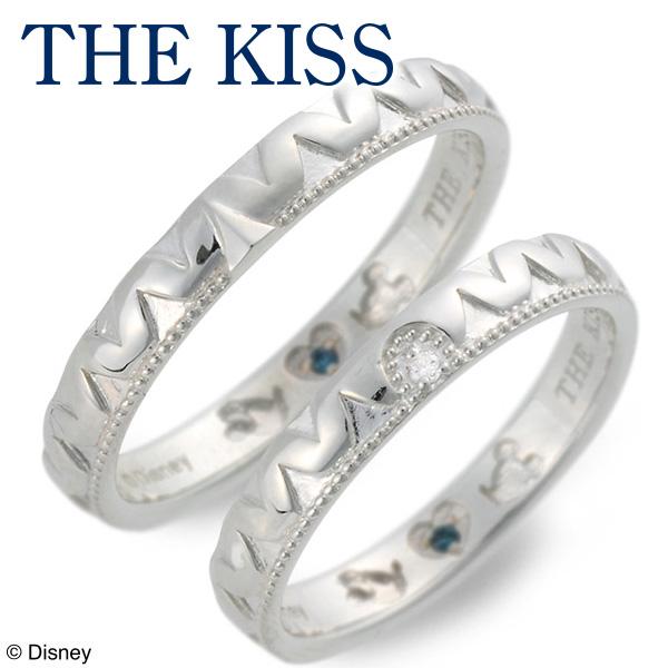 送料無料 THE KISS Disney シルバー ペアリング 婚約指輪 結婚指輪 エンゲージリング ダイヤモンド 20代 30代 彼女 彼氏 レディース メンズ カップル ペア 誕生日プレゼント 記念日 ギフトラッピング ザキッス ザキス ザ・キッス ディズニー ブランド