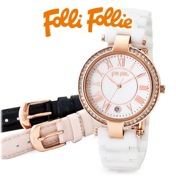 送料無料 Folli Follie ピンクゴールド 時計 20代 30代 彼女 レディース 女性 誕生日プレゼント 記念日 ギフトラッピング あす楽 フォリフォリ
