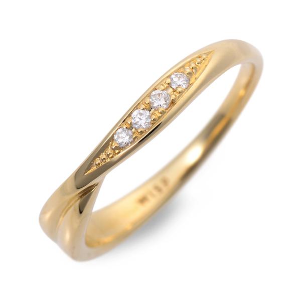 送料無料 WISP ゴールド リング 指輪 婚約指輪 結婚指輪 エンゲージリング ダイヤモンド 20代 30代 彼女 レディース 女性 誕生日プレゼント 記念日 ギフト ラッピング ウィスプ 母の日 花以外