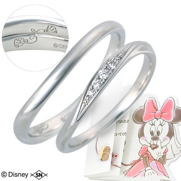 Disney Disney プラチナ ペアリング マリッジリング 結婚指輪 ダイヤモンド 名入れ 刻印 20代 30代 彼女 彼氏 レディース メンズ カップル ペア 誕生日プレゼント 記念日 ギフトラッピング ディズニー Disneyzone 送料無料 母の日