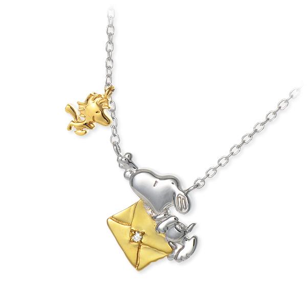 SNOOPY スヌーピー シルバー ネックレス ダイヤモンド ホワイト 彼女 レディース 母の日 2020