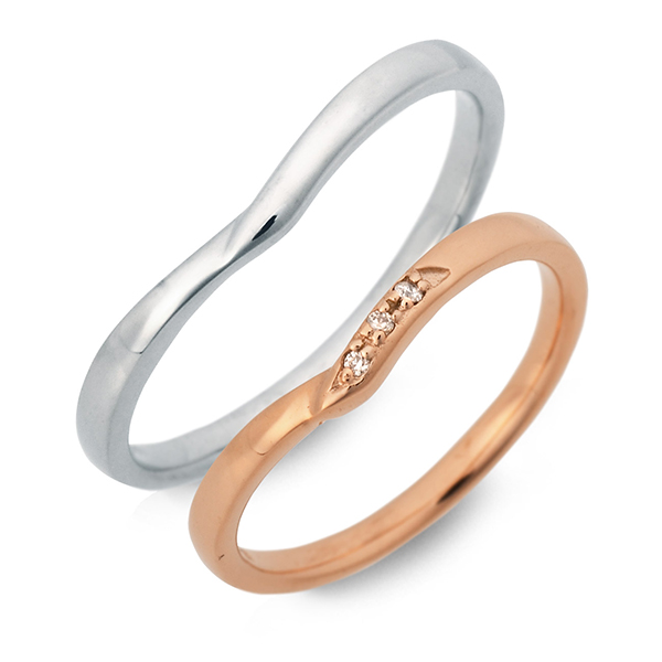 ペアリング LOVERS SCENE ピンクゴールド 婚約指輪 結婚指輪 エンゲージリング ダイヤモンド 彼女 彼氏 レディース メンズ カップル ペア 誕生日プレゼント 記念日 ギフトラッピング ラバーズシーン 送料無料 ブランド 母の日 2020