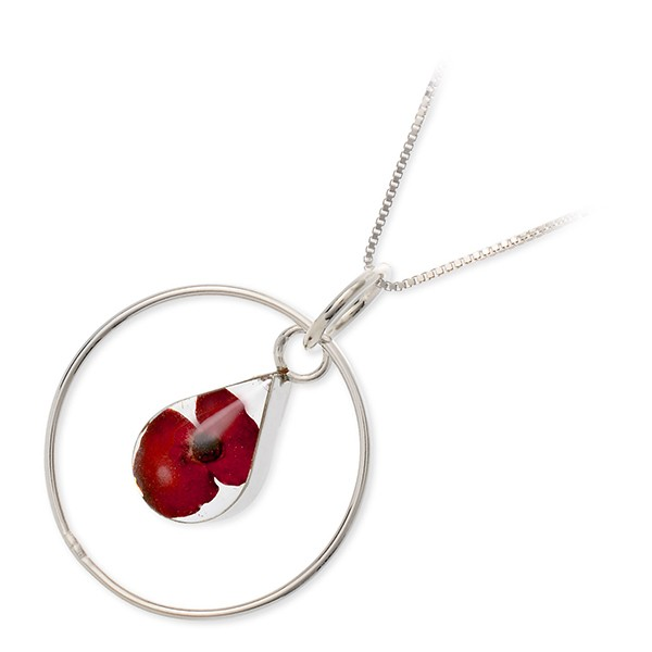 Hold a Candy Flower silver neck reply name