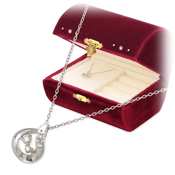 WISP ホワイトゴールド ネックレス シンプル ダイヤモンド 彼女 レディース 女性 誕生日プレゼント 記念日 ギフトラッピング ウィスプ 送料無料 母の日 2020