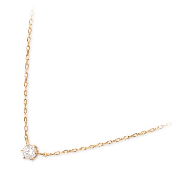 VA Vendome Aoyama ゴールド ネックレス シンプル ダイヤモンド 一粒 彼女 レディース 女性 誕生日プレゼント 記念日 ギフトラッピング ヴイエーヴァンドームアオヤマ 送料無料 母の日 2020