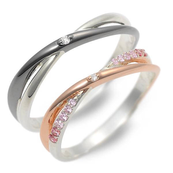 THE KISS シルバー ペアリング 婚約指輪 結婚指輪 エンゲージリング ダイヤモンド 彼女 彼氏 レディース メンズ カップル ペア 誕生日プレゼント 記念日 ギフトラッピング ザキッス ザキス ザ・キッス 送料無料