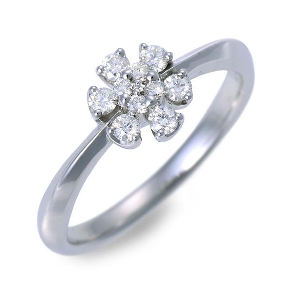 Sweet 10 Diamond ホワイトゴールド リング 指輪 婚約指輪 結婚指輪 エンゲージリング ダイヤモンド 20代 30代 彼女 レディース 女性 誕生日プレゼント 記念日 ギフトラッピング  送料無料