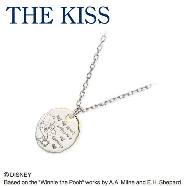 THE KISS Disney シルバー ネックレス ダイヤモンド 彼女 レディース 女性 誕生日プレゼント 記念日 ギフトラッピング ザキッス ザキス ザ・キッス ディズニー Disneyzone 送料無料