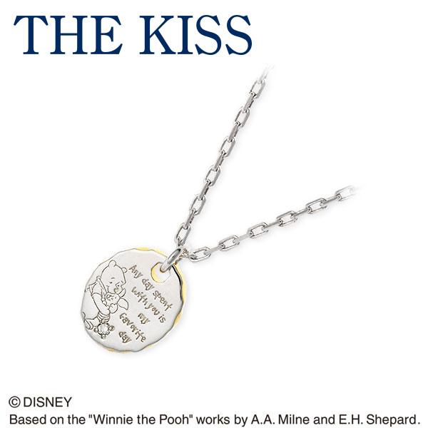 THE KISS Disney シルバー ネックレス ダイヤモンド 彼氏 メンズ 誕生日プレゼント 記念日 ギフトラッピング ザキッス ザキス ザ・キッス ディズニー Disneyzone 送料無料
