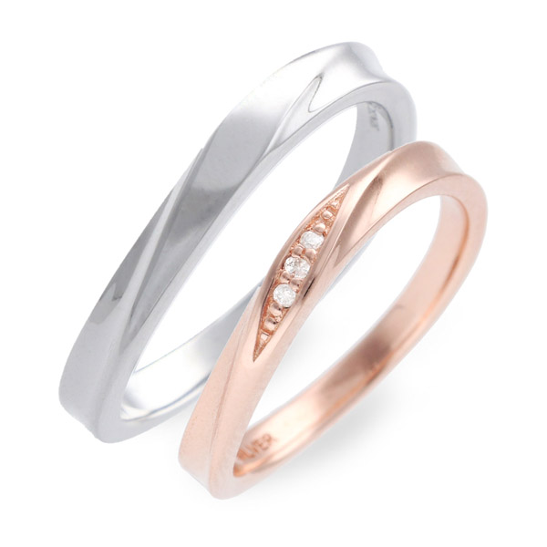 ペアリング LOVERS SCENE シルバー 婚約指輪 結婚指輪 エンゲージリング ダイヤモンド 名入れ 刻印 彼女 彼氏 レディース メンズ カップル ペア 誕生日プレゼント 記念日 ギフトラッピング ラバーズシーン 送料無料 母の日 2020