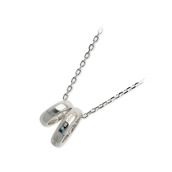 THE KISS シルバー ネックレス ダイヤモンド 20代 30代 彼氏 メンズ 誕生日プレゼント 記念日 ギフトラッピング ザキッス ザキス ザ・キッス 送料無料