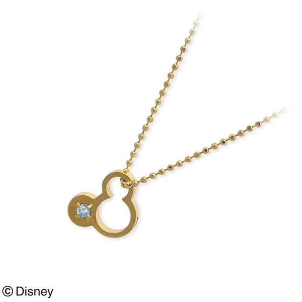 Disney Disney ゴールド ネックレス 誕生石 選べる 20代 30代 彼女 レディース 女性 誕生日プレゼント 記念日 ギフトラッピング ディズニー Disneyzone 送料無料 母の日 2020