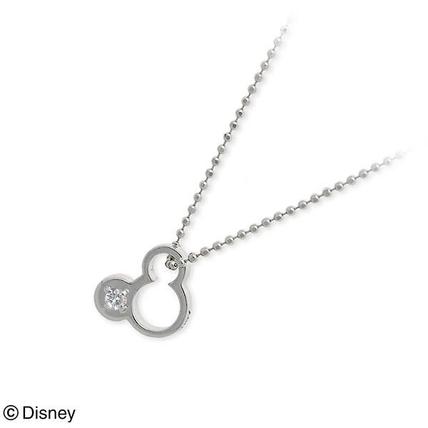 ダイヤモンド ネックレス Disney Disney ホワイトゴールド  誕生石 選べる 20代 30代 彼女 レディース 女性 誕生日プレゼント 記念日 ギフトラッピング ディズニー Disneyzone 送料無料 母の日 2020