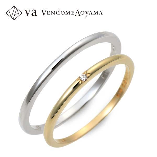 ペアリング 送料無料 VA Vendome Aoyama ゴールド 婚約指輪 結婚指輪 エンゲージリング ダイヤモンド 彼女 彼氏 レディース メンズ カップル ペア 誕生日プレゼント 記念日 ギフトラッピング ヴイエーヴァンドームアオヤマ ブランド 母の日 2020