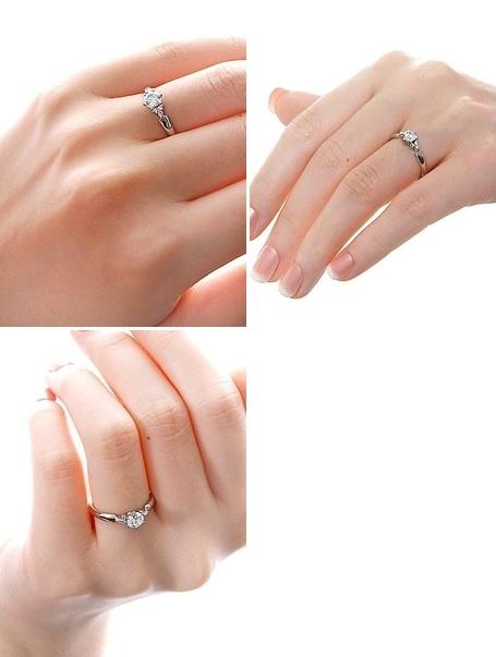 婚約指輪 エンゲージリング プラチナ ダイヤモンド ホワイト 彼女 レディース