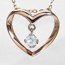 ブルームーンストーン ハートネックレス 6月誕生石 ピンクゴールドK18 カラーストーン 誕生日プレゼント ギフト ネックレス レディース チェーン シンプル ホワイトデー プレゼント